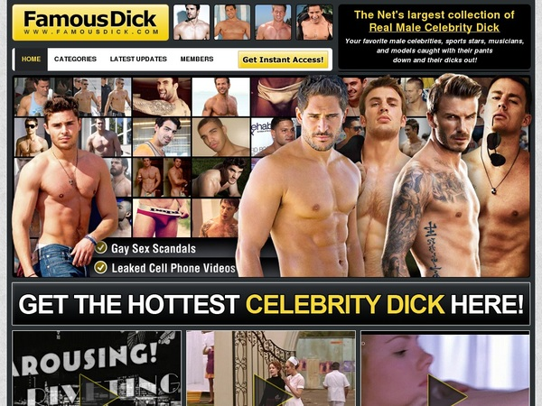 Famous Dick Join Anonymously