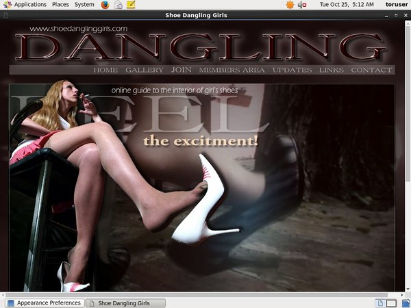 Shoe Dangling Girls Pics