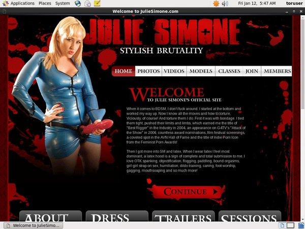 Julie Simone Members Discount