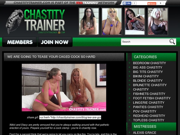 Chastity Trainer Make Account